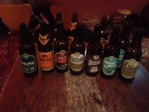 Thank you to Miriam and her iPhone for the picture of our beers